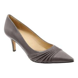 Women's Trotters Alexandra Dark Grey Glazed Kid Leather/Kid Suede