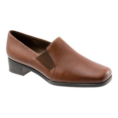 Women's Trotters Ash Cognac Burnished Soft Kid Leather