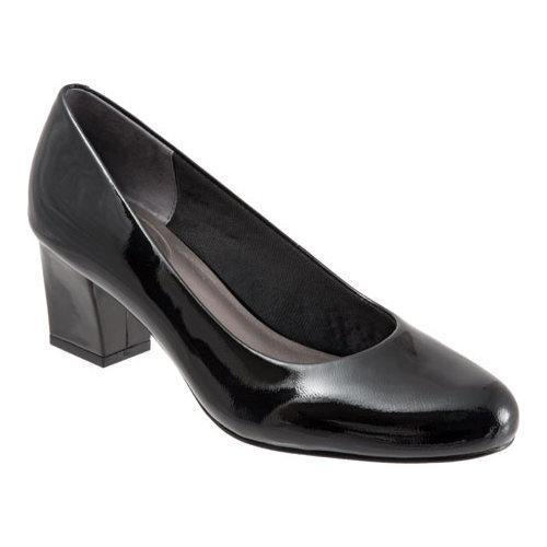 Women's Trotters Candela Pump Black Soft Patent Leather