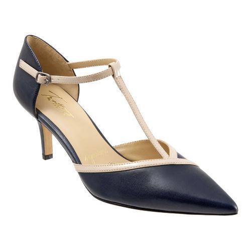... Women's Shoes; /; Women's Heels. Women's Trotters Amelia Navy/Nude  Glazed Kid/Soft Patent