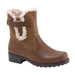 Women's Trotters Blast III Boot Cognac Faux Suede/Faux Leather