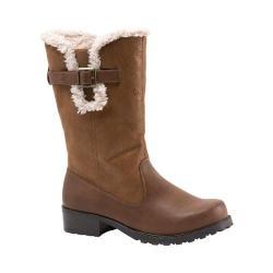 Women's Trotters Blizzard III Boot Cognac Faux Suede/Faux Leather