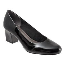 Women's Trotters Candela Pump Black Soft Patent Leather