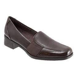 Women's Trotters Arianna Dark Brown Patent Leather/Burnished Soft Kid