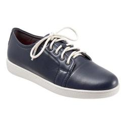 Women's Trotters Arizona Lace Up Navy Full Grain Nappa Soft Leather