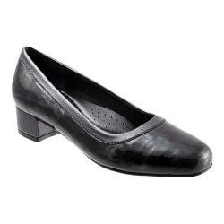 Women's Trotters Dora Croco Black Croco Patent Leather