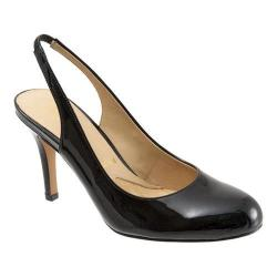 Women's Trotters Gidget Slingback Black Soft Patent Leather