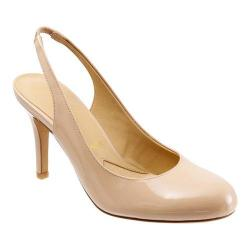 Women's Trotters Gidget Slingback Nude Soft Patent Leather