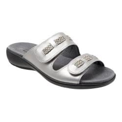 Women's Trotters Kap Slide Pewter Metallic Veg Calf Leather