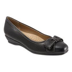Women's Trotters Landry Black Casual Veg Leather
