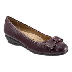 Women's Trotters Landry Burgundy Casual Veg Leather