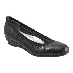 Women's Trotters Lansing Black Perfed Leather