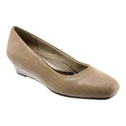 Women's Trotters Lauren Taupe Burnished Soft Kidskin