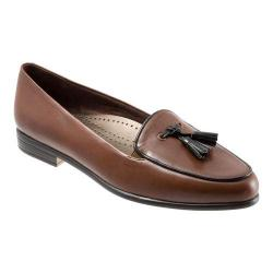 Women's Trotters Leana Cognac Burnished Soft Kidskin/Black Patent