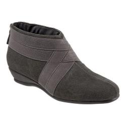 Women's Trotters Latch Ankle Boot Dark Grey Suede/Elastic