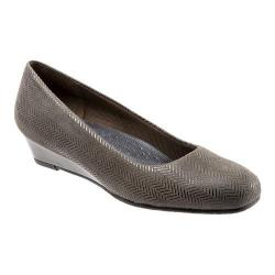 Women's Trotters Lauren Dark Grey Suede/Patent Leather