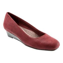 Women's Trotters Lauren Dark Red Suede/Patent Leather