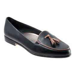 Women's Trotters Leana Navy Burnished Soft Kidskin/Tan Patent