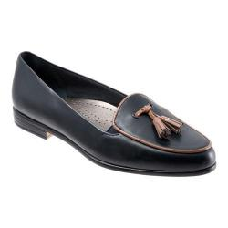 Women's Trotters Leana Navy Burnished Soft Kidskin/Tan Patent (More options available)