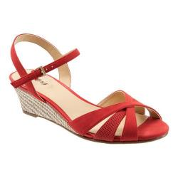 Women's Trotters Mickey Red Diamond Perfed Nubuck/Smooth Nubuck Leather