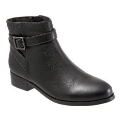 Women's Trotters Lux Ankle Boot Black Soft Wax Tumbled Leather