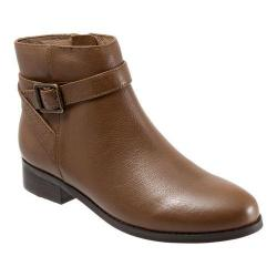 Women's Trotters Lux Ankle Boot Cognac Soft Wax Tumbled Leather