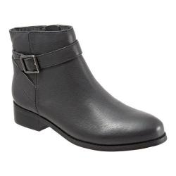 Women's Trotters Lux Ankle Boot Dark Grey Soft Wax Tumbled Leather