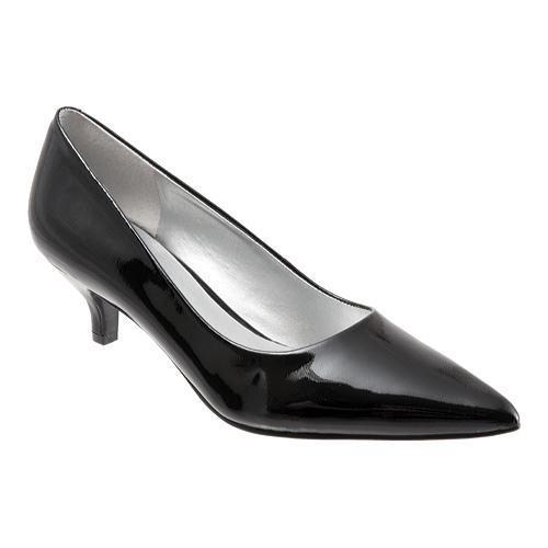 Womens Trotters Paulina Pumps Leather Patent Black