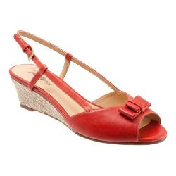 Women's Trotters Milly Red Dull Leather/Raffia