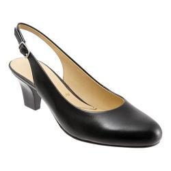Women's Trotters Pella Black Glazed Kid Leather