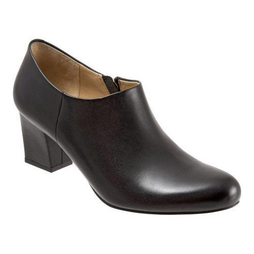 Women's Trotters Penny Bootie Black Full Grain Soft Nappa Leather