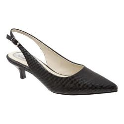 Women's Trotters Prima Black Mini Embossed Patent
