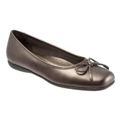 Women's Trotters Sante Ballet Flat Bronze Antique Washed Leather