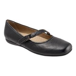 Women's Trotters Simmy Black Veg Tumbled Leather