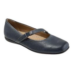 Women's Trotters Simmy Dark Blue Veg Tumbled Leather