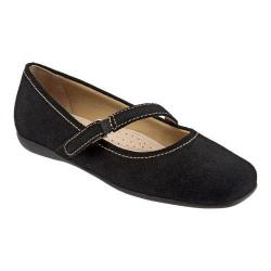 Women's Trotters Simmy Mary Jane Black Cow Suede