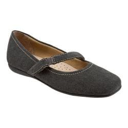 Women's Trotters Simmy Mary Jane Graphite Cow Suede