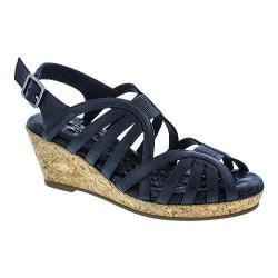 Women's Walking Cradles Amelie Strappy Sandal Black Leather