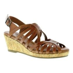 Women's Walking Cradles Amelie Strappy Sandal Luggage Leather