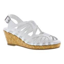 Women's Walking Cradles Amelie Strappy Sandal White Leather