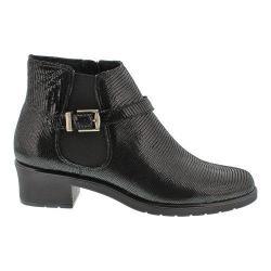 Women's Walking Cradles Clive Boot Black Lizard Leather