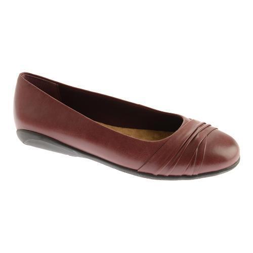Women's Ballet Flats/Walking Cradles Flick Oxblood Waxy Soft Leather