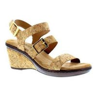 Women's Walking Cradles Lean Wedge Sandal Cork