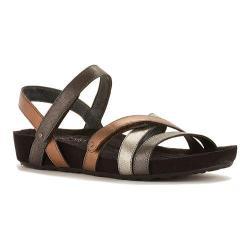 Women's Walking Cradles Pool Strappy Sandal Metallic Multi Leather/Suede
