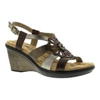 Women's Walking Cradles Lindsey Wedge Sandal Metallic Multi Leather