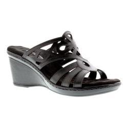 Women's Walking Cradles Logan Slide Black Soft Antanado Leather