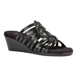 Women's Walking Cradles Nelson Slide Black Soft Antanado Leather