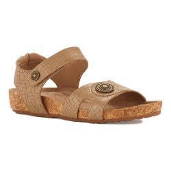 Women's Walking Cradles Pickens Sandal Light Taupe Razor Leather/Cork