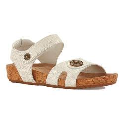 Women's Walking Cradles Pickens Sandal White Razor Leather/Cork
