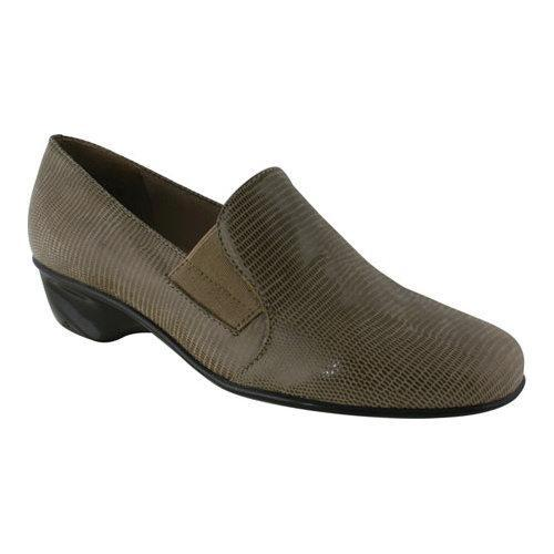 Women's Walking Cradles Teri Loafer Light Taupe Lizard Patent Print  Leather